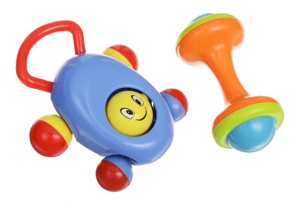 Ути-Пути Набор погремушек цвет сиреневый оранжевый 2 шт44247_фиолетовыйНабор погремушек Ути-пути состоит из двух ярких игрушек. Оранжевая погремушка выполнена в форме гантельки с гремящими элементами внутри. Сиреневая погремушка изготовлена в виде маленькой машинки с подвижным элементом в центре. Её можно не только трясти, но и катать по полу за удобную ручку. Погремушки Ути-пути учат малыша взаимодействовать с окружающим миром, знакомят со свойствами разных предметов, помогают развивать, моторику, слух, координацию, зрение.