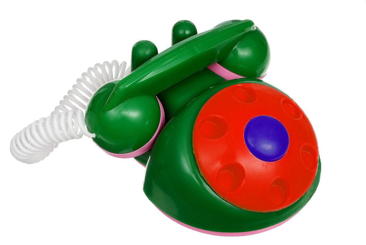 Аэлита Детский телефон цвет зеленый красный2С454_зеленый, красныйЯркий детский телефон Аэлита не оставит вашего малыша равнодушным и не позволит ему скучать! Игрушка представляет собой старинный дисковый аппарат с пружинным проводом, идущим к трубке. Небольшая трубка очень удобна по размерам для детских ручек. Диск крутится с мелодичным звоном, пружинный провод легко растягивается и собирается обратно. Яркие цвета игрушки направлены на развитие мыслительной деятельности, цветового восприятия, тактильных ощущений и мелкой моторики рук ребенка, а элемент набора номера на телефоне способствует развитию слуха.