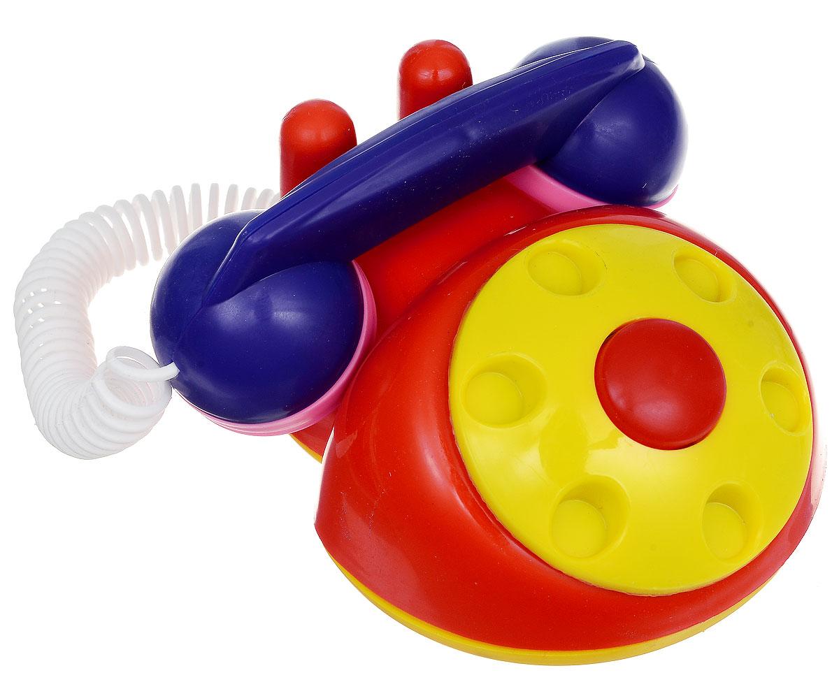 Аэлита Детский телефон цвет красный желтый