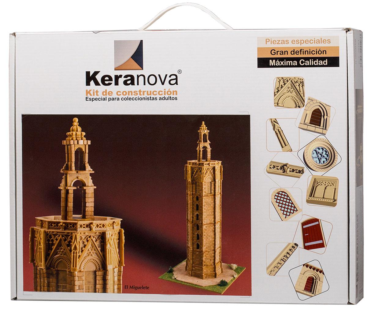 Keranova Конструктор Часовня Эль Мигелете30103Башня Мигелете является колокольней кафедрального собора Веленсии, Испания. Строительство башни началось в 1381 году и закончилось в 1429 году. Башня выполнена в стиле левантийской готики. высота башни до террасы по всему периметру составляет 51 метр, а общая высота – 63 метра. Она выполнена в форме ортогональной призмы и имеет 207 ступеней. В состав набора входят: - каркас модели из бумаги, - основа для миниатюры из МДФ, - набор кирпичиков и черепицы из глины разного размера(8 температурных режимов обжига кирпичиков), - имитация гравия, имитация травы, растительности (исландский мох – материал устойчивый к естественному разрушению), - имитация украшений фасадов и окон (изготовлены из натуральной смолы вручную), - деревянные планки, клей, схема сборки и инструкция. количество деталей: 3242 маштаб: 1/150