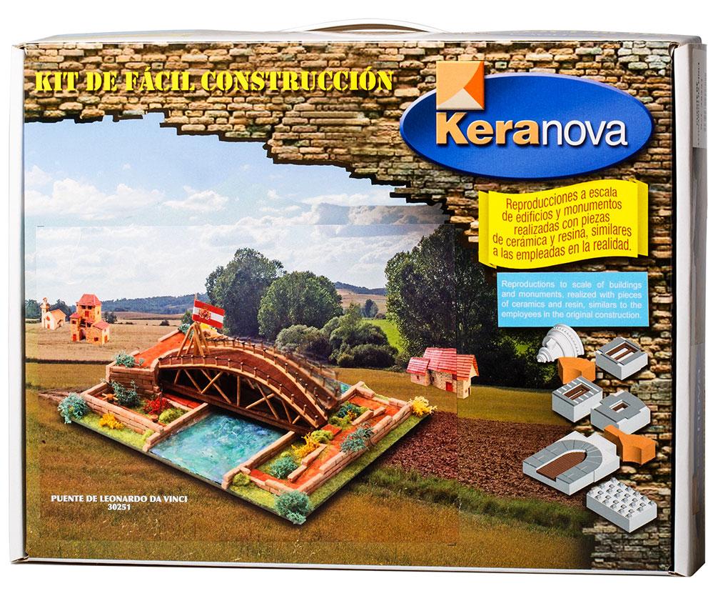 Keranova Конструктор Мост Леонардо30251Наборы для строительства Keranova позволяют почувствовать себя создателем архитектурных сооружений в полной мере. Средневековые замки и домики, башни, мельницы, береговые маяки – вы можете построить сами и украсить миниатюру по своему желанию. Некоторые модели выполнены в стандартном масштабе и являются точной копией оригинала. В ассортименте представлены модели с разным уровнем сложности. Высокое качество натуральных материалов, достоверность моделей, а также возможность создания миниатюры по своему проекту создают уникальную возможность для реализации творческого начала вне зависимости от возраста и опыта. В состав набора входят: - каркас модели из бумаги, - основа для миниатюры из фанеры, - набор кирпичиков и черепицы из глины разного размера и разной фактуры (8 температурных режимов обжига кирпичиков), - имитация грунта (песок), имитация растительности (исландский мох – материал устойчивый к естественному разрушению), - имитация украшений фасадов и...