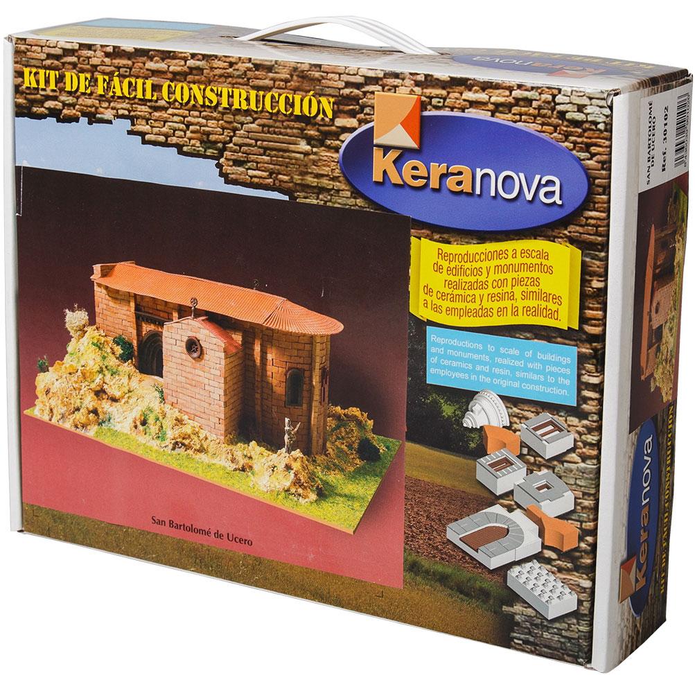 Keranova Конструктор Монастырь Сан Варфоломей Усерос30102Монастырь святого Варфоломея является одним из наиболее важных храмов тамплиеров в Испании. Он находится в каньоне реки Лобос в провинции Сория. Храм был построен в первой четверти тринадцатого века, когда романский стиль уступил место готическому. Данный переход нашел свое отражение в архитектуре монастыря. В состав набора входят: — каркас модели из бумаги, — основа для миниатюры из МДФ, — набор кирпичиков и черепицы из глины разного размера(8 температурных режимов обжига кирпичиков), - имитация гравия, имитация травы, растительности (исландский мох – материал устойчивый к естественному разрушению), — имитация украшений фасадов и окон (изготовлены из натуральной смолы вручную), — деревянные планки, клей, схема сборки и инструкция. количество деталей: 1320 маштаб: 1/125