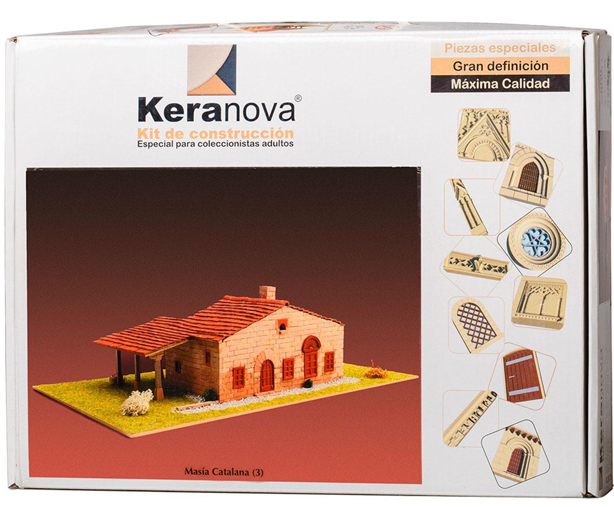 Keranova Конструктор Каталонский деревенский дом 3020630206Фермерские дома подобной конструкции очень распространены по всей северо-восточной Испании, в частности в древнем королевстве Арагон, истоки которого идут от древнеримских строений. Эти дома всегда стоят изолированно, что связано с животноводческой деятельностью ферм. В состав набора входят: - каркас модели из бумаги, - основа для миниатюры из фанеры, - набор кирпичиков и черепицы из глины разного размера и разной фактуры (8 температурных режимов обжига кирпичиков), - имитация грунта (песок), имитация растительности (исландский мох – материал устойчивый к естественному разрушению), - имитация украшений фасадов и окон (изготовлены из натуральной смолы вручную), - имитация деревянных переводов (деревянные брусочки), клей, схема сборки и инструкция. количество деталей: 1365