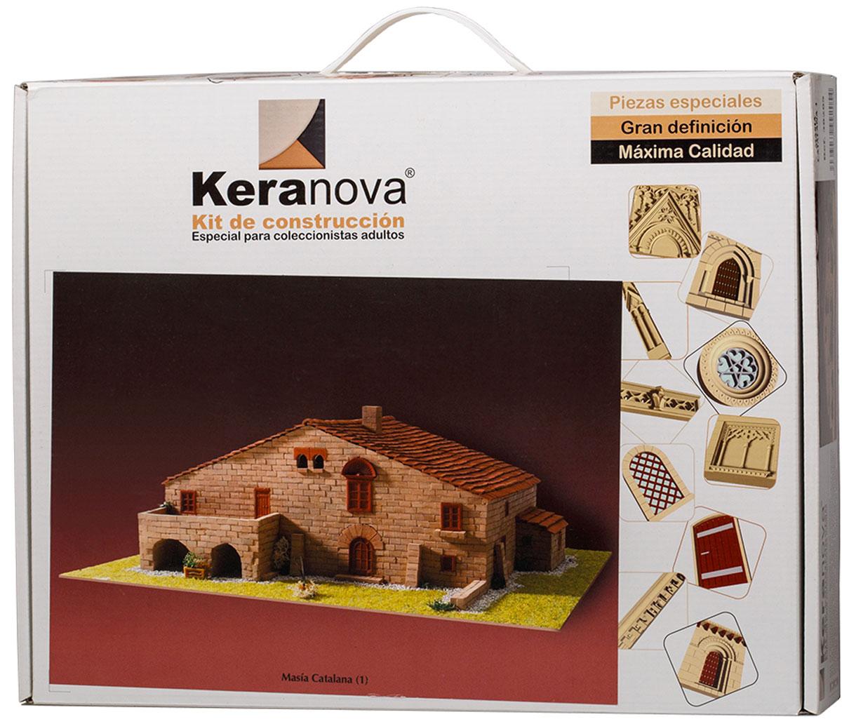 Keranova Конструктор Каталонский деревенский дом 3020530205Фермерские дома подобной конструкции очень распространены по всей северо-восточной Испании, в частности в древнем королевстве Арагон, истоки которого идут от древнеримских строений. Эти дома всегда стоят изолированно, что связано с животноводческой деятельностью ферм. В состав набора входят: - каркас модели из бумаги, - основа для миниатюры из фанеры, - набор кирпичиков и черепицы из глины разного размера и разной фактуры (8 температурных режимов обжига кирпичиков), - имитация грунта (песок), имитация растительности (исландский мох – материал устойчивый к естественному разрушению), - имитация украшений фасадов и окон (изготовлены из натуральной смолы вручную), - имитация деревянных переводов (деревянные брусочки), клей, схема сборки и инструкция. количество деталей: 2902