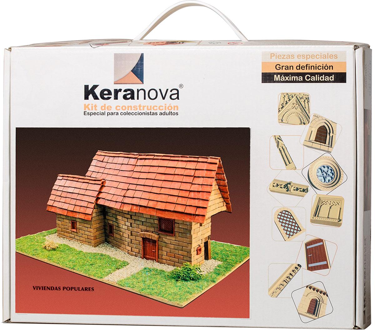 Keranova Конструктор Дома простолюдинов30333Наборы для строительства Keranova позволяют почувствовать себя создателем архитектурных сооружений в полной мере. Средневековые замки и домики, башни, мельницы, береговые маяки – вы можете построить сами и украсить миниатюру по своему желанию. Некоторые модели выполнены в стандартном масштабе и являются точной копией оригинала. В ассортименте представлены модели с разным уровнем сложности. Высокое качество натуральных материалов, достоверность моделей, а также возможность создания миниатюры по своему проекту создают уникальную возможность для реализации творческого начала вне зависимости от возраста и опыта. В состав набора входят: - каркас модели из бумаги, - основа для миниатюры из фанеры, - набор кирпичиков и черепицы из глины разного размера и разной фактуры (8 температурных режимов обжига кирпичиков), - имитация грунта (песок), имитация растительности (исландский мох – материал устойчивый к естественному разрушению), - имитация украшений фасадов и...