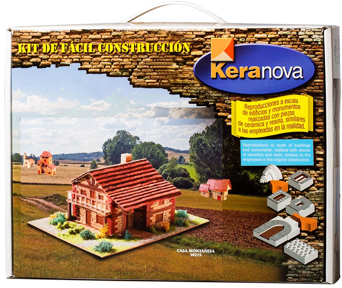 Keranova Конструктор Дом в горах30215Традиционный кантабрийский тип жилища - каса монтаньеса, представляющий собой двухэтажное строение с двухскатной крышей. Подобный тип возник в XVI-XVIII веках, получив широкое распространение в конце девятнадцатого века и первой трети двадцатого. Сегодня архитектурные ансамбли многих деревень и городов Кантабрии получили статус объекта Культурного интереса Испании (BIC). В состав набора входят: - каркас модели из бумаги, - основа для миниатюры из фанеры, - набор кирпичиков и черепицы из глины разного размера и разной фактуры (8 температурных режимов обжига кирпичиков), - имитация грунта (песок), имитация растительности (исландский мох – материал устойчивый к естественному разрушению), - имитация украшений фасадов и окон (изготовлены из натуральной смолы вручную), - имитация деревянных переводов (деревянные брусочки), клей, схема сборки и инструкция. количество деталей 1422