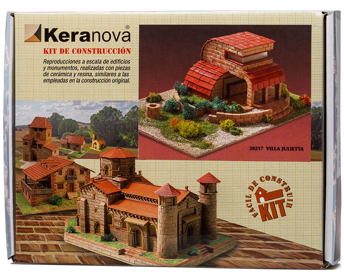 Keranova Конструктор Вилла Джульетта30217Наборы для строительства Keranova позволяют почувствовать себя создателем архитектурных сооружений в полной мере. Средневековые замки и домики, башни, мельницы, береговые маяки – вы можете построить сами и украсить миниатюру по своему желанию. Некоторые модели выполнены в стандартном масштабе и являются точной копией оригинала. В ассортименте представлены модели с разным уровнем сложности. высокое качество натуральных материалов, достоверность моделей, а также возможность создания миниатюры по своему проекту создают уникальную возможность для реализации творческого начала вне зависимости от возраста и опыта. В состав набора входят: - каркас модели из бумаги, - основа для миниатюры из фанеры, - набор кирпичиков и черепицы из глины разного размера и разной фактуры (8 температурных режимов обжига кирпичиков), - имитация грунта (песок), имитация растительности (исландский мох – материал устойчивый к естественному разрушению), - имитация украшений фасадов и...