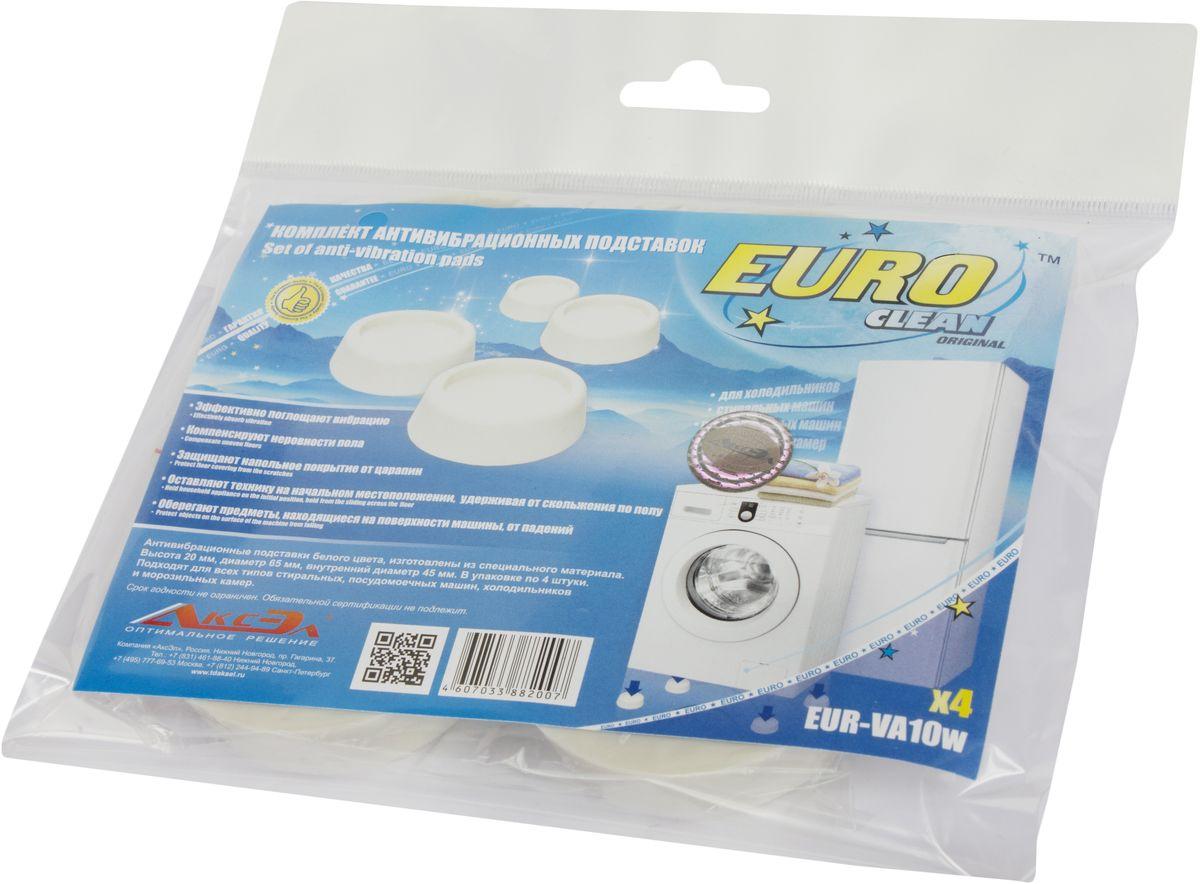 Euro Clean VA-10W, White антивибрационные подставки для стиральных машин и холодильников, 4 шт