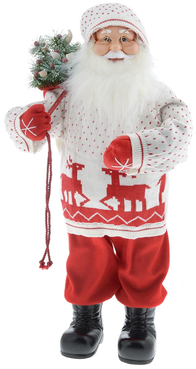 Фигурка новогодняя ESTRO Дед Мороз с мешком, цвет: белый, красный, высота 80 смC21-321094Декоративная фигурка Дед Мороз с мешком изготовлена из высококачественных материалов в оригинальном стиле. Фигурка выполнена в виде Деда Мороза с мешком подарков. Уютная и милая интерьерная игрушка предназначена для взрослых и детей, для игр и украшения новогодней елки, да и просто, для создания праздничной атмосферы в интерьере! Фигурка прекрасно украсит ваш дом к празднику, а в остальные дни с ней с удовольствием будут играть дети. Оригинальный дизайн и красочное исполнение создадут праздничное настроение. Фигурка создана вручную, неповторима и оригинальна. Порадуйте своих друзей и близких этим замечательным подарком!