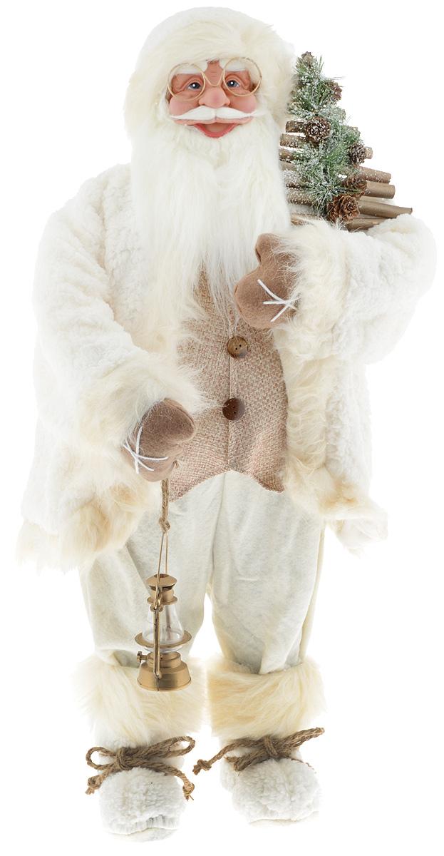 Фигурка новогодняя ESTRO Дед Мороз с лампой, цвет: белый, бежевый, высота 85 смC21-321085Декоративная фигурка Дед Мороз с лампой изготовлена из высококачественных материалов в оригинальном стиле. Фигурка выполнена в виде Деда Мороза с лампой. Уютная и милая интерьерная игрушка предназначена для взрослых и детей, для игр и украшения новогодней елки, да и просто, для создания праздничной атмосферы в интерьере! Фигурка прекрасно украсит ваш дом к празднику, а в остальные дни с ней с удовольствием будут играть дети. Оригинальный дизайн и красочное исполнение создадут праздничное настроение. Фигурка создана вручную, неповторима и оригинальна. Порадуйте своих друзей и близких этим замечательным подарком!