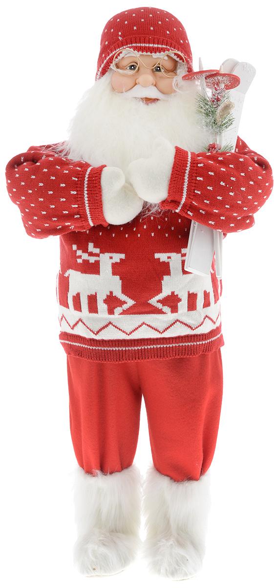 Фигурка новогодняя ESTRO Дед Мороз с лыжами, цвет: красный, белый, высота 85 смC21-321093Декоративная фигурка Дед Мороз с лыжами изготовлена из высококачественных материалов в оригинальном стиле. Фигурка выполнена в виде Деда Мороза с лыжами. Уютная и милая интерьерная игрушка предназначена для взрослых и детей, для игр и украшения новогодней елки, да и просто, для создания праздничной атмосферы в интерьере! Фигурка прекрасно украсит ваш дом к празднику, а в остальные дни с ней с удовольствием будут играть дети. Оригинальный дизайн и красочное исполнение создадут праздничное настроение. Фигурка создана вручную, неповторима и оригинальна. Порадуйте своих друзей и близких этим замечательным подарком!