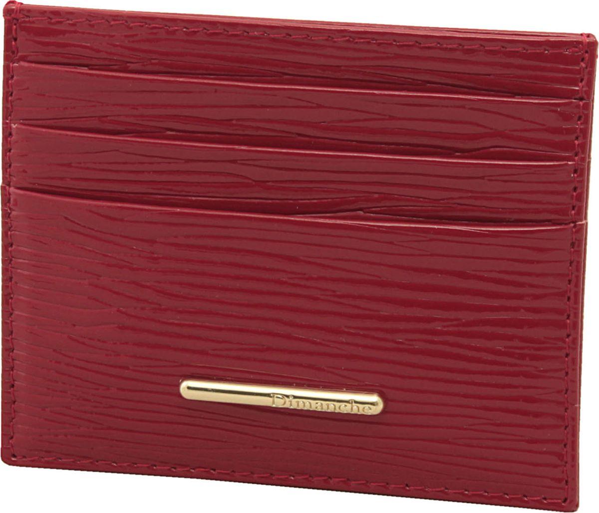 Визитница женская Dimanche Найс, цвет: красный. 149149Миниатюрный футляр для хранения визитных или кредитных кар. С каждой стороны имеется по 3 кармашка и посередине потайной карман.