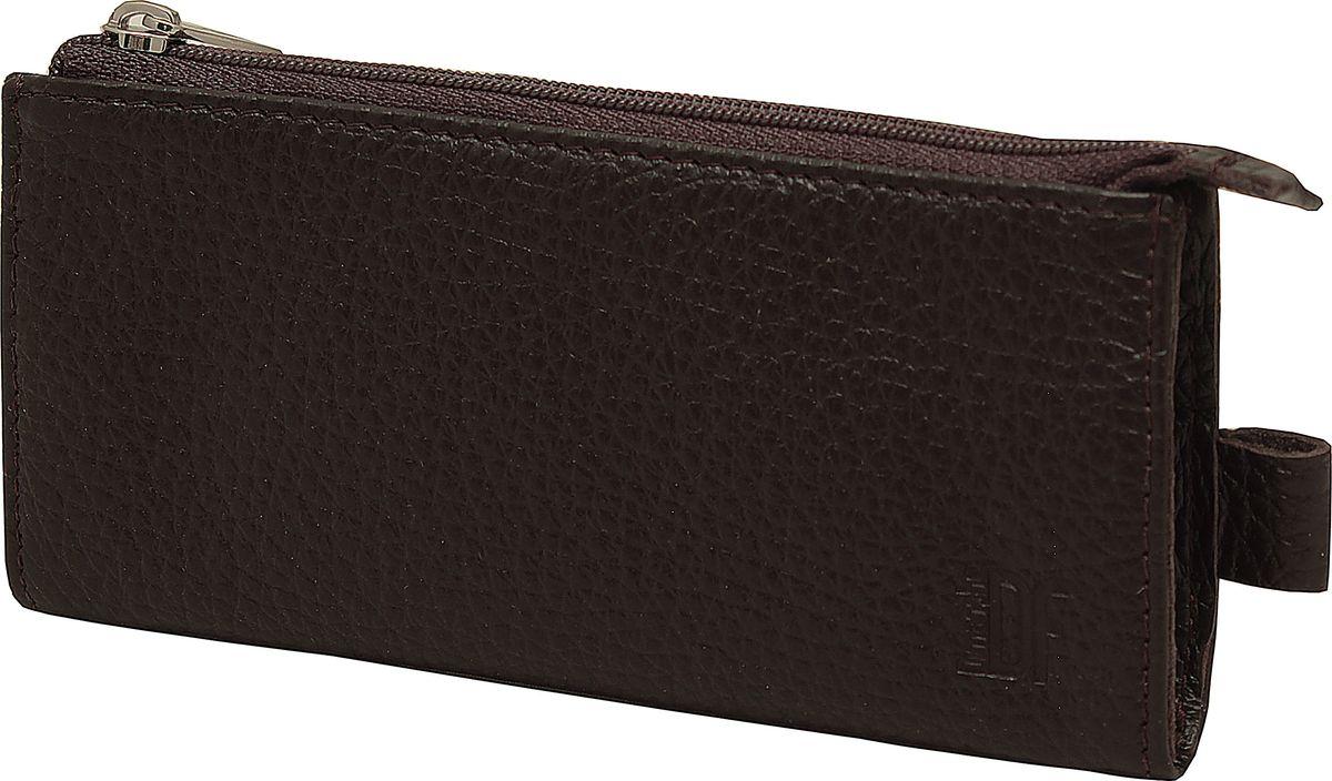 Ключница Dimanche Street Brun, цвет: коричневый. 316316Мягкая удобная вместительная ключница. Внутри кольцо для ключей, на подкладке, закрывается на молнию. На задней стенке карман на молнии.