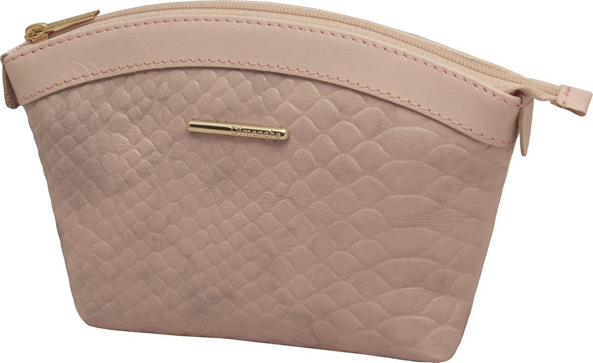 Косметичка женская Dimanche Nice, цвет: розовый. 796796Удобная косметичка из натуральной кожи. Закрывается на молнию, внутри на подкладке.