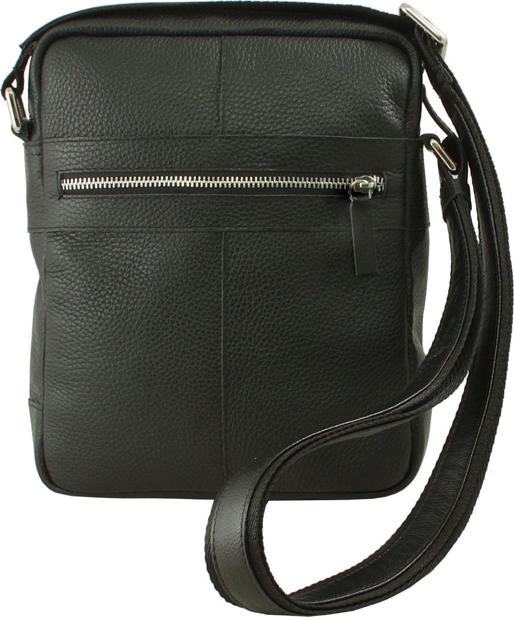 Сумка мужская Dimanche Поло, цвет: черный. 879/100F879/100FМужская сумка среднего размера состоит из трех отделений, закрывающихся на молнию. Изготовлен из натуральной мягкой кожи. Комбинированный ремень регулируется по длине до 150 см.