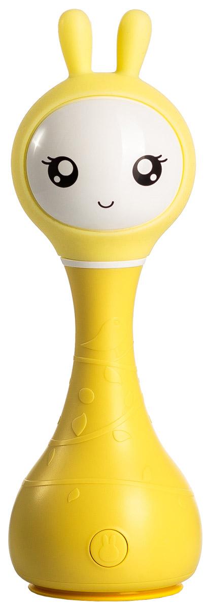 Alilo Музыкальная игрушка-ночник Зайка R1 цвет желтый60907Умный зайчик Alilo R1 очень сообразительный. Он может играть разную удивительную музыку, рассказывать сказки, светиться в темноте, а также познакомить вашего малыша с окружающими цветами, которые делают его жизнь яркой. Умный зайчик Alilo R1 – это ещё и погремушка. Потрясите его – он начнёт воспроизводить мелодию, нажмите «СТОП» через две секунды после начала проигрывания и снова потрясите – мелодия изменится. Прочная конструкция (упадёт - не сломается), без острых краёв Мягкие силиконовые ушки могут светиться 5 часов непрерывной игры без подзарядки! Зарядка через USB (кабель прилагается) Загруженный контент: 16 песен и 16 сказок на русском языке 5 успокаивающих звуков для крепкого сна ребёнка (белый шум) 66 рингтонов для погремушки Яркая инструкция на русском и гарантия 30 дней Технология распознавания цвета: поставьте зайчика на предмет и слегка надавите. Ушки Умного зайчика засветятся цветом поверхности, а также он скажет вам, что это за...