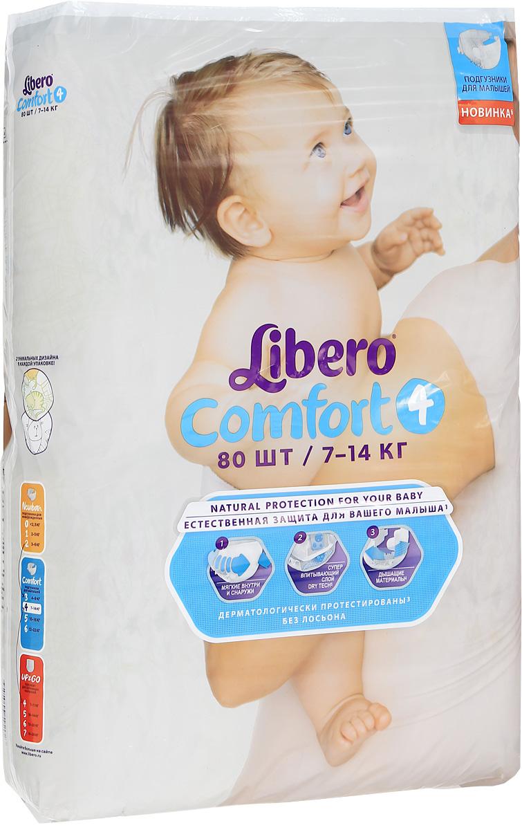 Libero Подгузники Comfort (7-14 кг) 80 шт5528Подгузники Либеро Комфорт Макси 7/14 кг (80 штук) Ваш малыш с каждым днем становится все более активным, начинает исследовать окружающий мир. Но иногда кроха не может радоваться открытиям из-за такой важной одежды, как подгузник. Мягкие и ультратонкие Libero Comfort хорошо впитывают и сидят на малыше, не стесняя его движений, дарят комфорт и радость. Мягкие и тонкие Хорошо впитывают Не содержат лосьонов Тянущиеся боковинки и эластичный поясок для более комфортного прилегания Мягкие резиночки анатомической формы вокруг ножек Позволяют коже дышать В каждой упаковке Libero Comfort вы найдете 2 разных дизайна подгузников! Libero Baby Soft 4 (Макси) созданы для малышей от 7-14 кг. ...