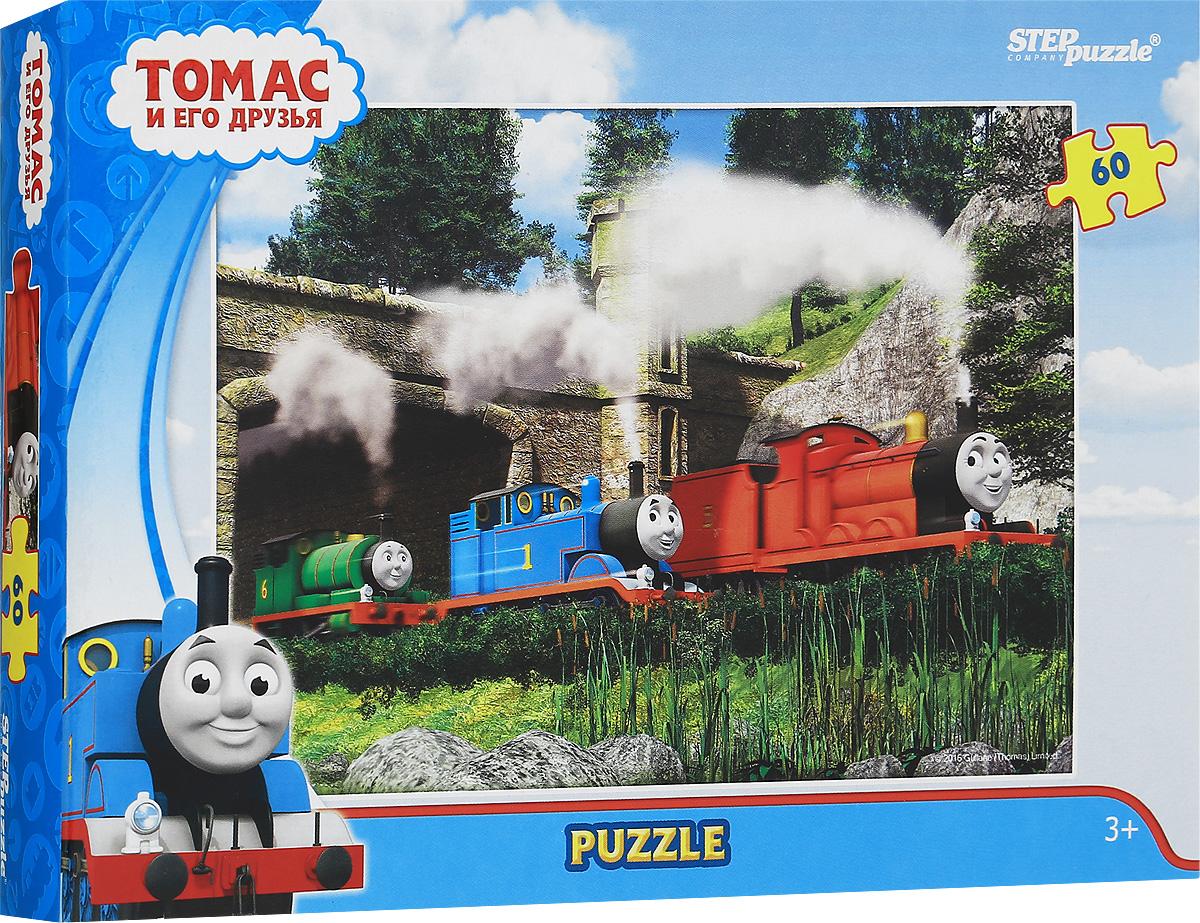 Step Puzzle Пазл для малышей Томас и его друзья 8115081150Пазл для малышей Step Puzzle Томас и его друзья создан по мотивам мультфильма Томас и его друзья.История рассказывает о приключениях паровозов, живущих на вымышленном острове Содор. Пазл включает в себя 60 элементов, собрав которые, вы получите картинку с изображением сюжета из мультфильма. Собирание пазла развивает у ребенка мелкую моторику рук, тренирует наблюдательность, логическое мышление, знакомит с окружающим миром, с цветами и разнообразными формами, учит усидчивости и терпению, аккуратности и вниманию.