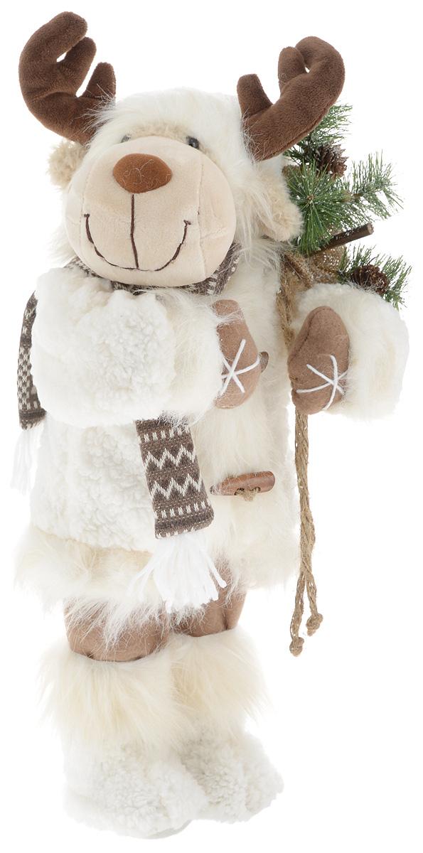 Фигурка новогодняя ESTRO Лось, цвет: белый, коричневый, высота 50 смC21-221025Декоративная фигурка Лось изготовлена из высококачественных материалов в оригинальном стиле. Фигурка выполнена в виде лося. Уютная и милая интерьерная игрушка предназначена для взрослых и детей, для игр и украшения новогодней елки, да и просто, для создания праздничной атмосферы в интерьере! Фигурка прекрасно украсит ваш дом к празднику, а в остальные дни с ней с удовольствием будут играть дети. Оригинальный дизайн и красочное исполнение создадут праздничное настроение. Фигурка создана вручную, неповторима и оригинальна. Порадуйте своих друзей и близких этим замечательным подарком!