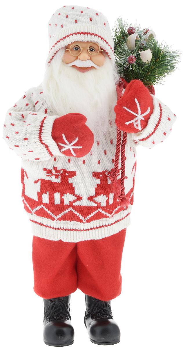 Фигурка новогодняя ESTRO Дед Мороз с мешком, цвет: белый, красный, высота 45 смC21-181342Декоративная фигурка Дед Мороз с мешком изготовлена из высококачественных материалов в оригинальном стиле. Фигурка выполнена в виде Деда Мороза с мешком подарков. Уютная и милая интерьерная игрушка предназначена для взрослых и детей, для игр и украшения новогодней елки, да и просто, для создания праздничной атмосферы в интерьере! Фигурка прекрасно украсит ваш дом к празднику, а в остальные дни с ней с удовольствием будут играть дети. Оригинальный дизайн и красочное исполнение создадут праздничное настроение. Фигурка создана вручную, неповторима и оригинальна. Порадуйте своих друзей и близких этим замечательным подарком!