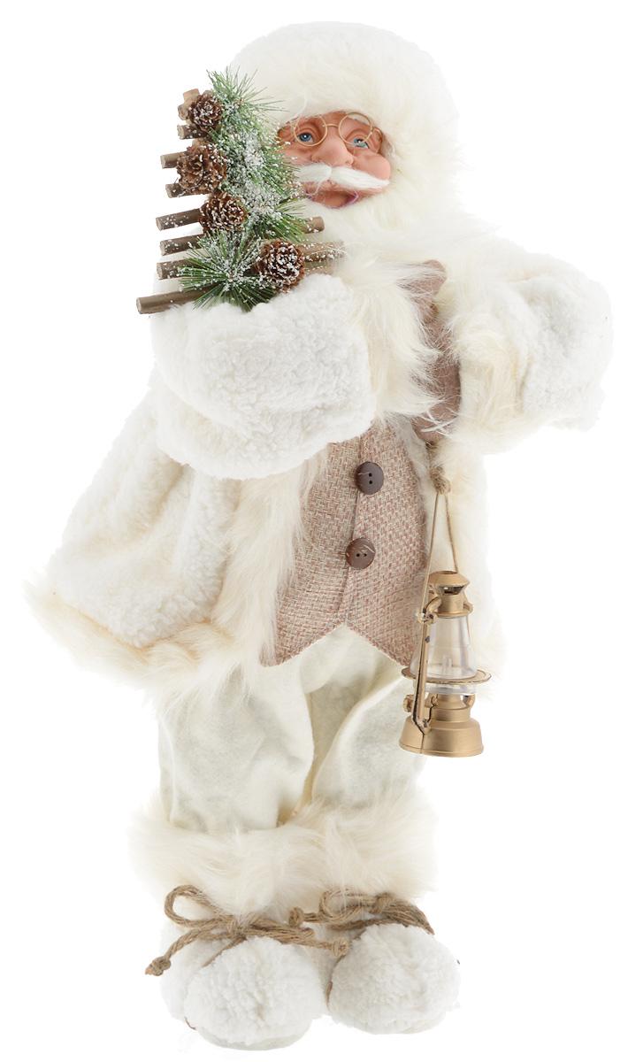 Фигурка новогодняя ESTRO Дед Мороз с лампой, цвет: белый, бежевый, высота 60 смC21-241151Декоративная фигурка Дед Мороз с лампой изготовлена из высококачественных материалов в оригинальном стиле. Фигурка выполнена в виде Деда Мороза с лампой. Уютная и милая интерьерная игрушка предназначена для взрослых и детей, для игр и украшения новогодней елки, да и просто, для создания праздничной атмосферы в интерьере! Фигурка прекрасно украсит ваш дом к празднику, а в остальные дни с ней с удовольствием будут играть дети. Оригинальный дизайн и красочное исполнение создадут праздничное настроение. Фигурка создана вручную, неповторима и оригинальна. Порадуйте своих друзей и близких этим замечательным подарком!