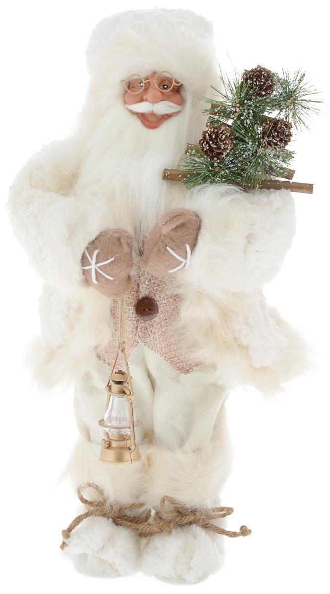 Фигурка новогодняя ESTRO Дед Мороз с лампой, цвет: белый, бежевый, высота 45 смC21-181306Декоративная фигурка Дед Мороз с лампой изготовлена из высококачественных материалов в оригинальном стиле. Фигурка выполнена в виде Деда Мороза с лампой. Уютная и милая интерьерная игрушка предназначена для взрослых и детей, для игр и украшения новогодней елки, да и просто, для создания праздничной атмосферы в интерьере! Фигурка прекрасно украсит ваш дом к празднику, а в остальные дни с ней с удовольствием будут играть дети. Оригинальный дизайн и красочное исполнение создадут праздничное настроение. Фигурка создана вручную, неповторима и оригинальна. Порадуйте своих друзей и близких этим замечательным подарком!