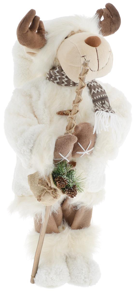 Фигурка новогодняя ESTRO Лось, цвет: белый, коричневый, высота 70 смC21-281016Декоративная фигурка Лось изготовлена из высококачественных материалов в оригинальном стиле. Фигурка выполнена в виде лося. Уютная и милая интерьерная игрушка предназначена для взрослых и детей, для игр и украшения новогодней елки, да и просто, для создания праздничной атмосферы в интерьере! Фигурка прекрасно украсит ваш дом к празднику, а в остальные дни с ней с удовольствием будут играть дети. Оригинальный дизайн и красочное исполнение создадут праздничное настроение. Фигурка создана вручную, неповторима и оригинальна. Порадуйте своих друзей и близких этим замечательным подарком!