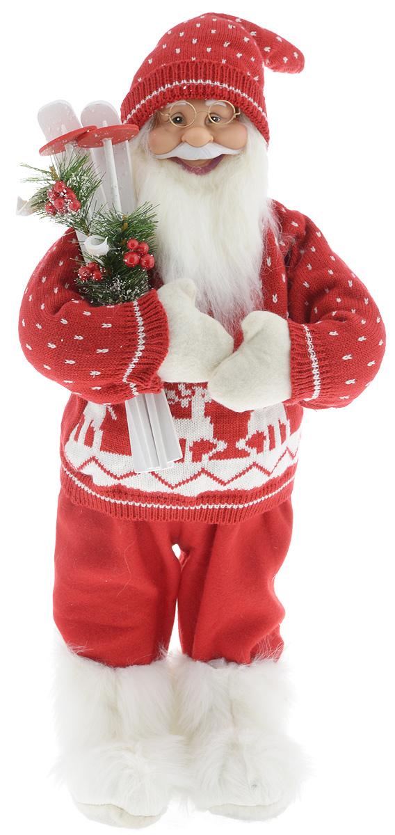 Фигурка новогодняя ESTRO Дед Мороз с лыжами, цвет: красный, белый, высота 60 смC21-241175Декоративная фигурка Дед Мороз с лыжами изготовлена из высококачественных материалов в оригинальном стиле. Фигурка выполнена в виде Деда Мороза с лыжами. Уютная и милая интерьерная игрушка предназначена для взрослых и детей, для игр и украшения новогодней елки, да и просто, для создания праздничной атмосферы в интерьере! Фигурка прекрасно украсит ваш дом к празднику, а в остальные дни с ней с удовольствием будут играть дети. Оригинальный дизайн и красочное исполнение создадут праздничное настроение. Фигурка создана вручную, неповторима и оригинальна. Порадуйте своих друзей и близких этим замечательным подарком!