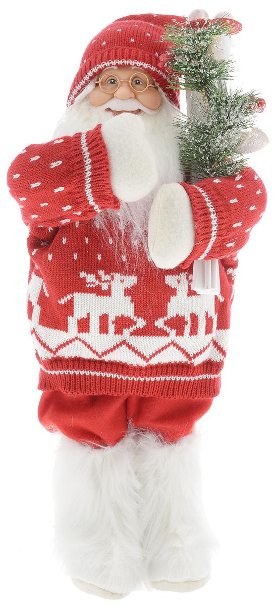 Фигурка новогодняя ESTRO Дед Мороз с лыжами, цвет: красный, белый, высота 50 смC21-181341Декоративная фигурка Дед Мороз с лыжами изготовлена из высококачественных материалов в оригинальном стиле. Фигурка выполнена в виде Деда Мороза с лыжами. Уютная и милая интерьерная игрушка предназначена для взрослых и детей, для игр и украшения новогодней елки, да и просто, для создания праздничной атмосферы в интерьере! Фигурка прекрасно украсит ваш дом к празднику, а в остальные дни с ней с удовольствием будут играть дети. Оригинальный дизайн и красочное исполнение создадут праздничное настроение. Фигурка создана вручную, неповторима и оригинальна. Порадуйте своих друзей и близких этим замечательным подарком!