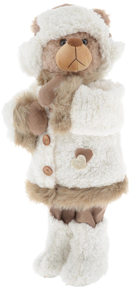 Фигурка новогодняя ESTRO Медведь, цвет: белый, коричневый, высота 55 смC21-221042Декоративная фигурка Медведь изготовлена из высококачественных материалов в оригинальном стиле. Фигурка выполнена в виде медведя в зимнем наряде. Уютная и милая интерьерная игрушка предназначена для взрослых и детей, для игр и украшения новогодней елки, да и просто, для создания праздничной атмосферы в интерьере! Фигурка прекрасно украсит ваш дом к празднику, а в остальные дни с ней с удовольствием будут играть дети. Оригинальный дизайн и красочное исполнение создадут праздничное настроение. Фигурка создана вручную, неповторима и оригинальна. Порадуйте своих друзей и близких этим замечательным подарком!