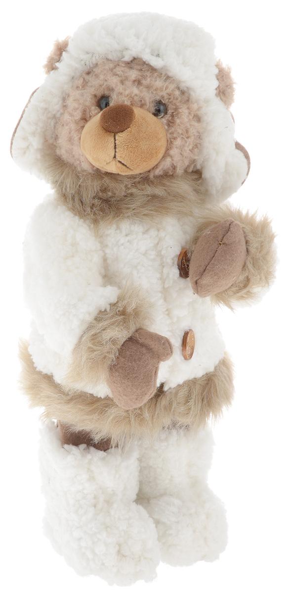 Фигурка новогодняя ESTRO Медведь, цвет: белый, коричневый, высота 40 смC21-161162Декоративная фигурка Медведь изготовлена из высококачественных материалов в оригинальном стиле. Фигурка выполнена в виде медведя в зимнем наряде. Уютная и милая интерьерная игрушка предназначена для взрослых и детей, для игр и украшения новогодней елки, да и просто, для создания праздничной атмосферы в интерьере! Фигурка прекрасно украсит ваш дом к празднику, а в остальные дни с ней с удовольствием будут играть дети. Оригинальный дизайн и красочное исполнение создадут праздничное настроение. Фигурка создана вручную, неповторима и оригинальна. Порадуйте своих друзей и близких этим замечательным подарком!