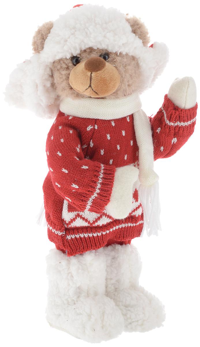 Фигурка новогодняя ESTRO Медведь, цвет: белый, красный, высота 35 смC21-161143Декоративная фигурка Медведь изготовлена из высококачественных материалов в оригинальном стиле. Фигурка выполнена в виде медведя в зимнем наряде. Уютная и милая интерьерная игрушка предназначена для взрослых и детей, для игр и украшения новогодней елки, да и просто, для создания праздничной атмосферы в интерьере! Фигурка прекрасно украсит ваш дом к празднику, а в остальные дни с ней с удовольствием будут играть дети. Оригинальный дизайн и красочное исполнение создадут праздничное настроение. Фигурка создана вручную, неповторима и оригинальна. Порадуйте своих друзей и близких этим замечательным подарком!