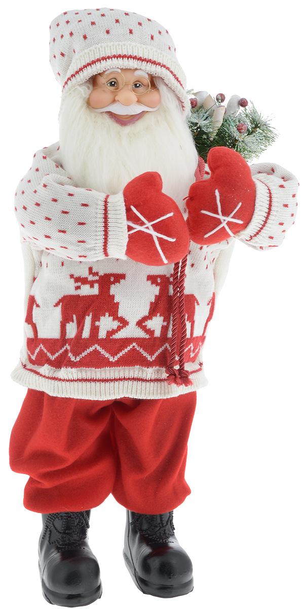 Фигурка новогодняя ESTRO Дед Мороз с мешком, цвет: белый, красный, высота 65 смC21-241176Декоративная фигурка Дед Мороз с мешком изготовлена из высококачественных материалов в оригинальном стиле. Фигурка выполнена в виде Деда Мороза с мешком подарков. Уютная и милая интерьерная игрушка предназначена для взрослых и детей, для игр и украшения новогодней елки, да и просто, для создания праздничной атмосферы в интерьере! Фигурка прекрасно украсит ваш дом к празднику, а в остальные дни с ней с удовольствием будут играть дети. Оригинальный дизайн и красочное исполнение создадут праздничное настроение. Фигурка создана вручную, неповторима и оригинальна. Порадуйте своих друзей и близких этим замечательным подарком!.