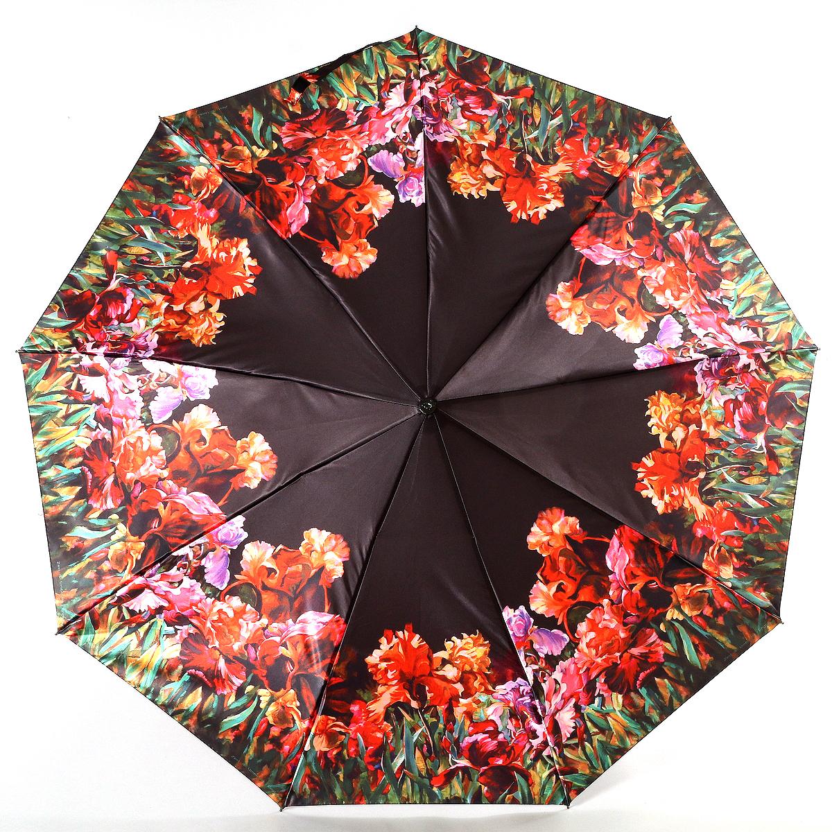 Зонт женский Zest, цвет: сиреневый, черный, красный. 23944-298723944-2987Сатиновый женский зонт в 3 сложения. Модель зонта выполнена в механизме - полный автомат, оснащена системой Антиветер, которая позволяет спицам при порывах ветра выгибаться наизнанку, и при этом не ломаться. Удобная ручка выполнена из пластика. Данный аксессуар особенно хорош для тех, кто привык к комфорту. Вес зонта 480 грамм.