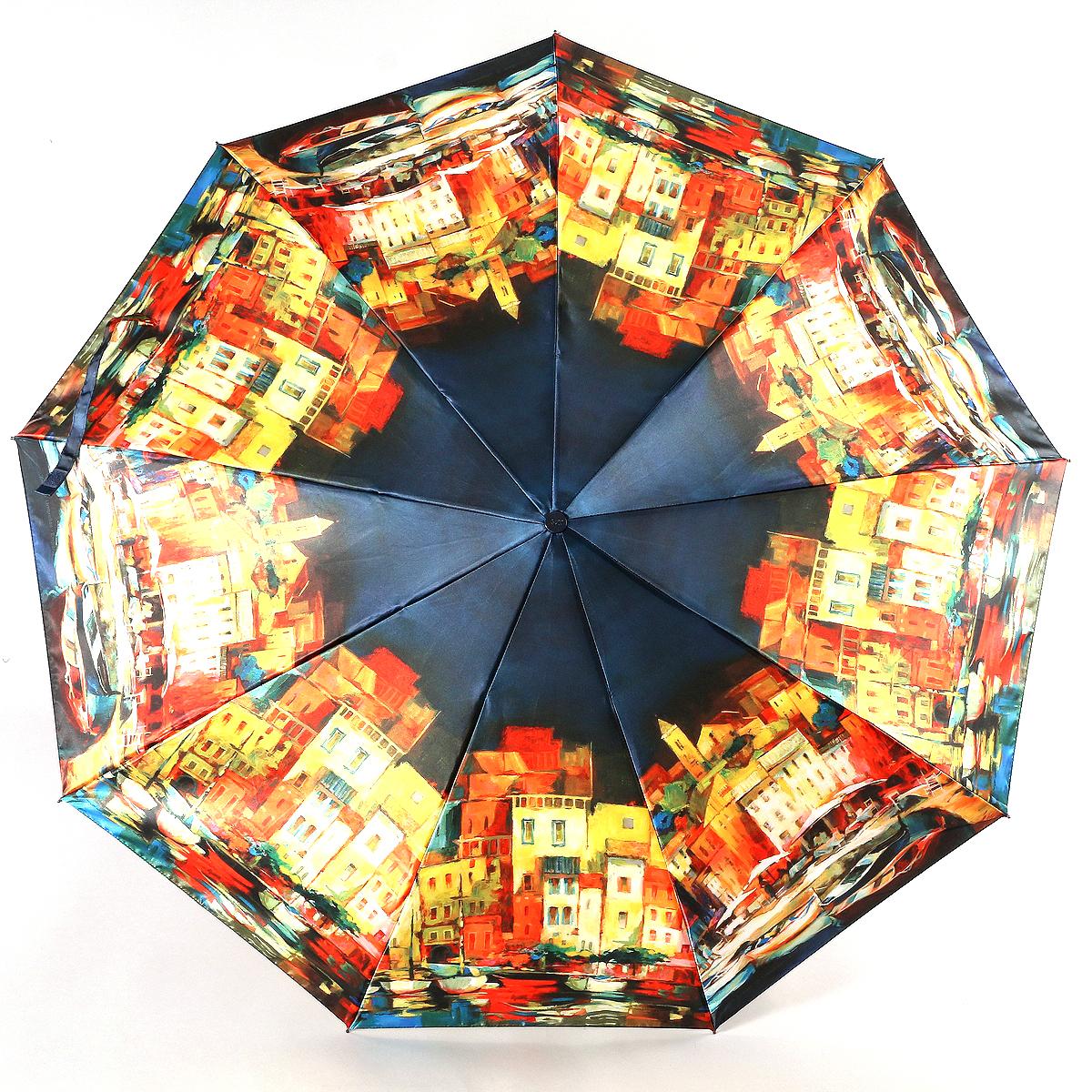 Зонт женский Zest, цвет: черный, красный, оранжевый. 23944-300723944-3007Сатиновый женский зонт в 3 сложения. Модель зонта выполнена в механизме - полный автомат, оснащена системой Антиветер, которая позволяет спицам при порывах ветра выгибаться наизнанку, и при этом не ломаться. Удобная ручка выполнена из пластика. Данный аксессуар особенно хорош для тех, кто привык к комфорту. Вес зонта 480 грамм.