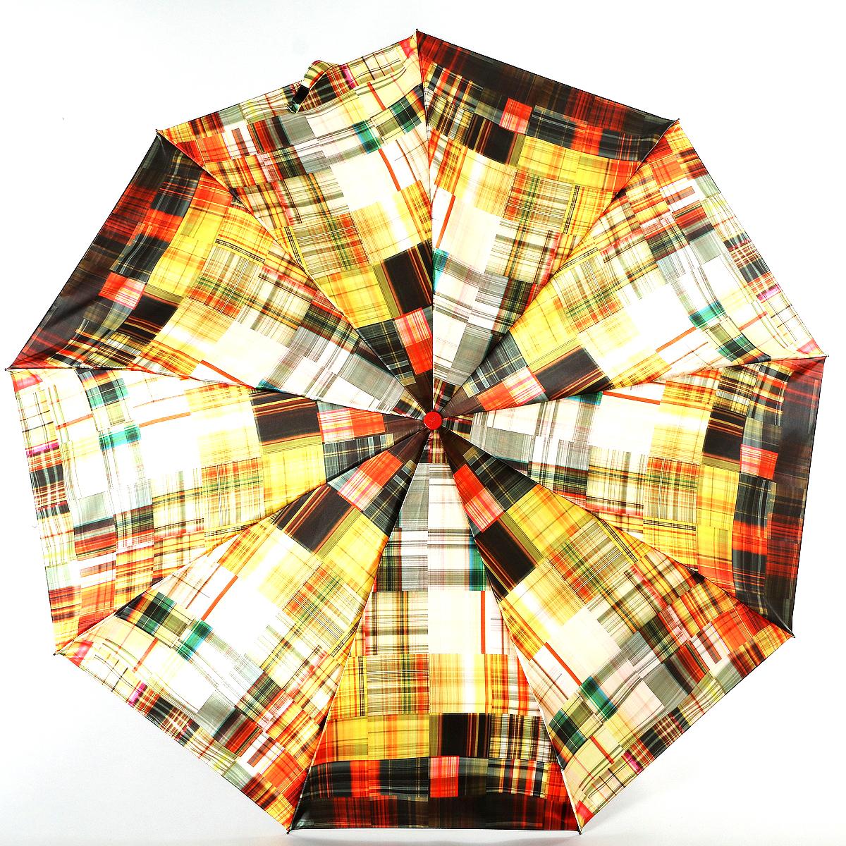 Зонт женский Zest, цвет: желтый, зеленый, серый. 23944-308423944-3084Сатиновый женский зонт в 3 сложения. Модель зонта выполнена в механизме - полный автомат, оснащена системой Антиветер, которая позволяет спицам при порывах ветра выгибаться наизнанку, и при этом не ломаться. Удобная ручка выполнена из пластика. Данный аксессуар особенно хорош для тех, кто привык к комфорту. Вес зонта 480 грамм.