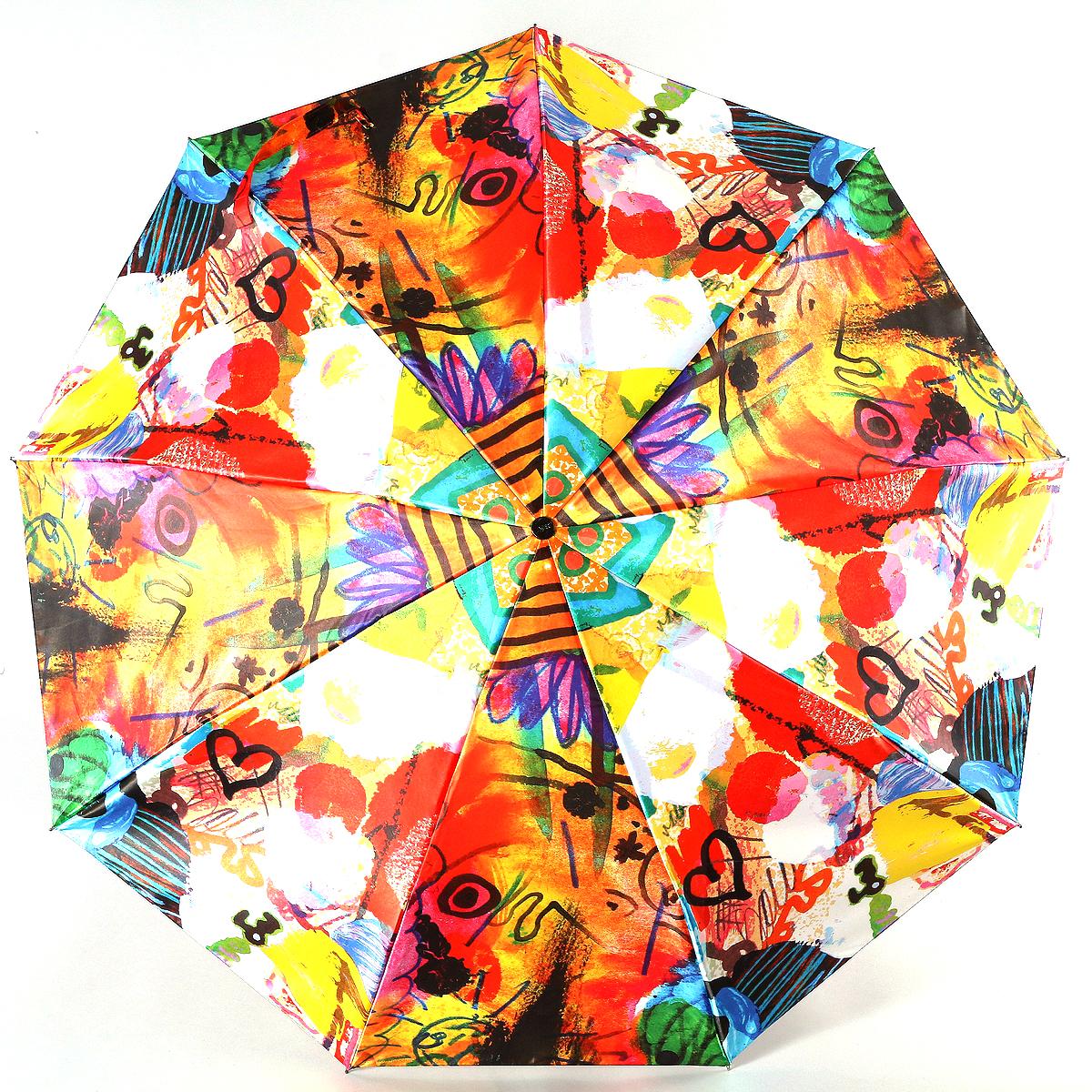 Зонт женский Zest, цвет: фуксия, черный, желтый. 23944-308523944-3085Сатиновый женский зонт в 3 сложения. Модель зонта выполнена в механизме - полный автомат, оснащена системой Антиветер, которая позволяет спицам при порывах ветра выгибаться наизнанку, и при этом не ломаться. Удобная ручка выполнена из пластика. Данный аксессуар особенно хорош для тех, кто привык к комфорту. Вес зонта 480 грамм.