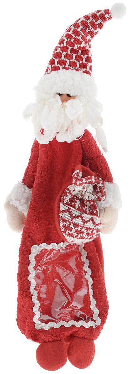 """Упаковка для бутылки Mister Christmas """"Дед Мороз"""", высота 38 см HM-009R_красный"""