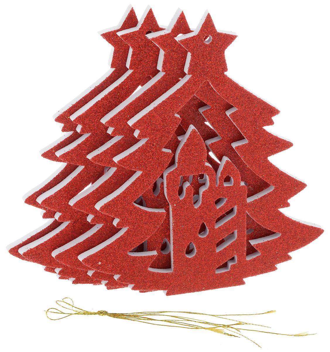 Набор новогодних подвесных украшений House & Holder Елка, цвет: красный, 4 штY68-8314/3R_красныйНабор подвесных украшений House & Holder Елка прекрасно подойдет для праздничного декора новогодней ели. Набор состоит из 4 пластиковых украшений. Елочная игрушка - символ Нового года. Она несет в себе волшебство и красоту праздника. Создайте в своем доме атмосферу веселья и радости, украшая новогоднюю елку нарядными игрушками, которые будут из года в год накапливать теплоту воспоминаний. Откройте для себя удивительный мир сказок и грез. Почувствуйте волшебные минуты ожидания праздника, создайте новогоднее настроение вашим дорогим и близким. Размер: 11 х 0,5 х 12,5 см.