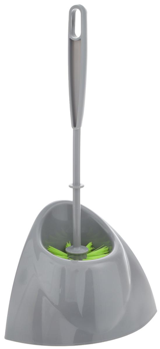 Ершик для туалета York Уголок, с подставкой, цвет: серый, салатовый, 2 предмета6404_серыйЕршик с подставкой для туалета York Уголок изготовлены из высококачественного полипропилена. Угловая подставка с устойчивым основанием не позволяет ершику опрокинуться. Большая моющая часть ершика, выполненная из прочных полимерных волокон, позволяет легко чистить поверхность. Ершик для туалета York Уголок - это необходимая вещь в каждом доме. Длина ручки ершика: 35,5 см. Размер рабочей поверхности ершика: 8 х 8 х 7 см. Размер подставки: 19,5 х 12,5 х 13 см. Общая высота гарнитура: 36 см.