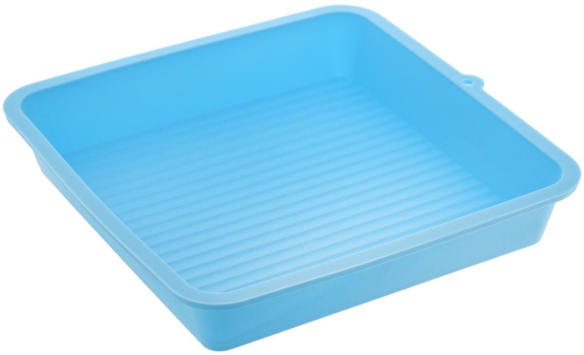 Форма для выпечки LaSella, силиконовая, цвет: голубой, 23 х 23 х 4,5 смKL40B005_голубойФорма для выпечки LaSella выполнена из высококачественного 100% пищевого силикона. Идеально подходит для приготовления выпечки, десертов и холодных закусок. Форма выдерживает температуру от -40 до + 240°C, обладает естественными антипригарными свойствами. Не выделяет вредных веществ при высоких температурах. Подходит для использования в духовке и микроволновой печи. Размер формы: 23 х 23 х 4,5 см.