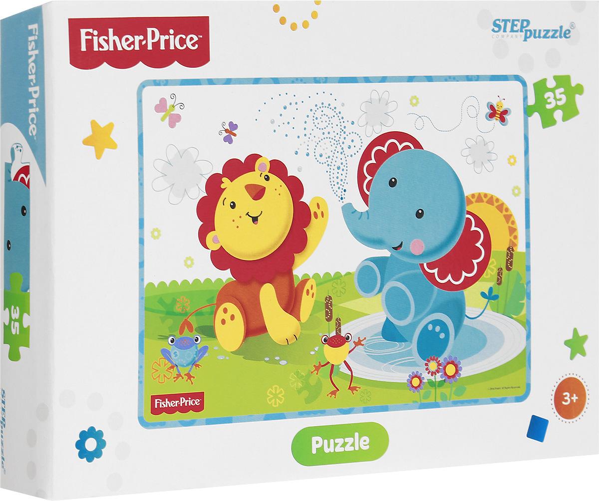 Step Puzzle Пазл для малышей Fisher Price 9114891148Пазл для малышей Step Puzzle Fisher Price создан по со знаменитым игрушкам Fisher Price. Собрав этот пазл, состоящий из 35 элементов, вы получите картинку с изображением любимых игрушек. Пазл - великолепная игра для семейного досуга. Сегодня собирание пазлов стало особенно популярным, главным образом, благодаря своей многообразной тематике, способной удовлетворить самый взыскательный вкус. Для детей это не только интересно, но и полезно. Собирание пазла развивает мелкую моторику ребенка, тренирует наблюдательность, логическое мышление, знакомит с окружающим миром, с цветом и разнообразными формами.