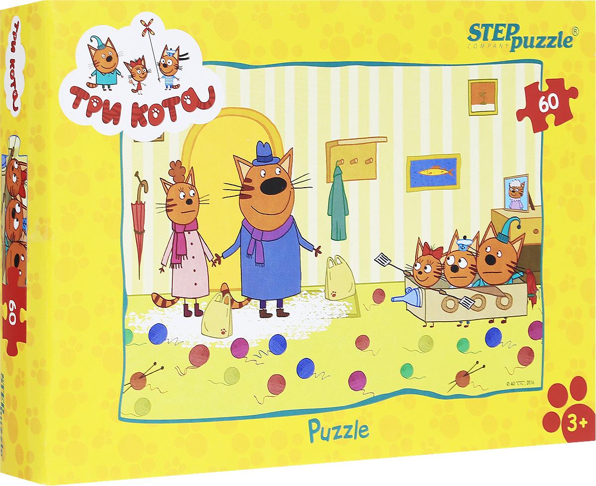 Step Puzzle Пазл для малышей Три кота 8115281152Пазл для малышей Step Puzzle Три кота создан по мотивам мультфильма Три кота. История рассказывает о семье котят и их родителей. Пазл включает в себя 60 элементов, собрав которые, вы получите картинку с изображением сюжета из мультфильма. Собирание пазла развивает у ребенка мелкую моторику рук, тренирует наблюдательность, логическое мышление, знакомит с окружающим миром, с цветами и разнообразными формами, учит усидчивости и терпению, аккуратности и вниманию.