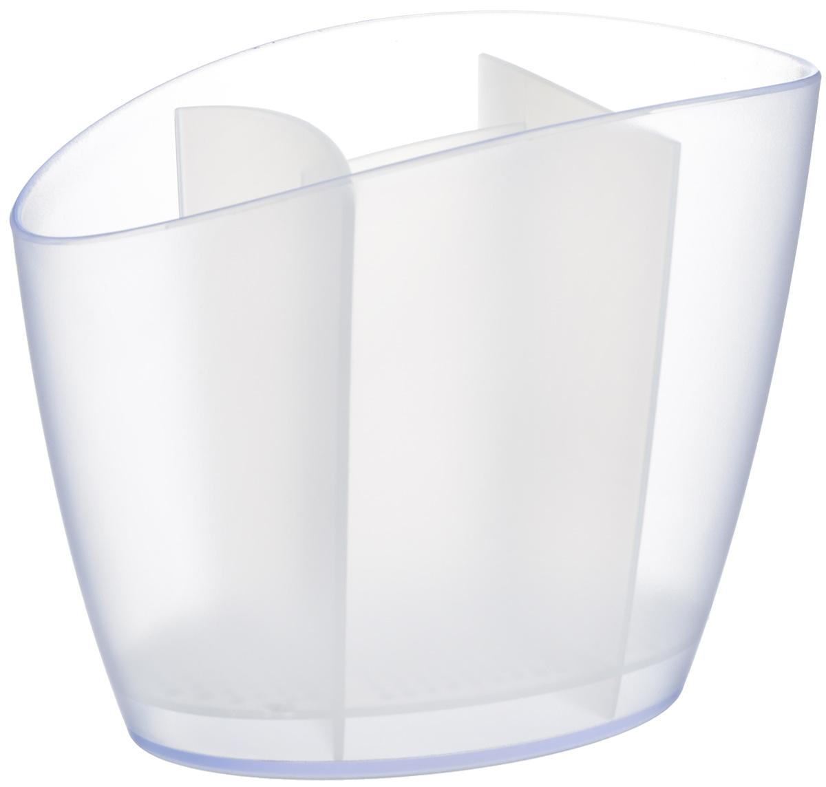 Сушилка для столовых приборов Tescoma Clean Kit, цвет: белый, 19,5 х 11 х 15,5 см900640.11Сушилка Tescoma Clean Kit, выполненная из высококачественного пластика, прекрасно подходит для сушки столовых приборов. Для легкости очищения снабжена съемной подставкой для стока воды. Изделие хорошо впишется в интерьер, не займет много места, а столовые приборы будут всегда под рукой. Можно мыть в посудомоечной машине. Размер изделия: 19,5 х 11 х 15,5 см.