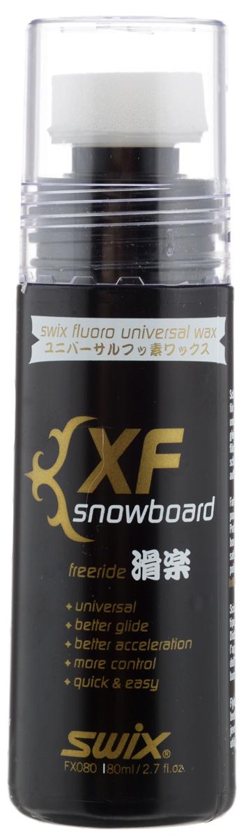 Мазь универсальная для сноубордов Swix XF, фторсодержащая, эмульсия с губкой-аппликатором, 80 млXF80CSwix XF - это высококачественная водоотталкивающая фторсодержащая мазь для сноубордов. Подойдет для езды по любому типу снега. Нанес и вперед! Содержит фтор. Эмульсия с губкой-аппликатором.