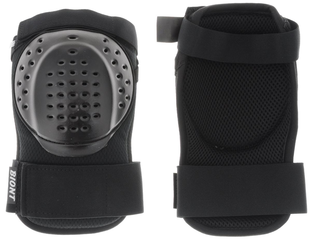 Защита колена Biont, цвет: черный. Размер S/M230_155Дышащая композитная защита колена Biont защитит вас от травмирования ног. Выполнена из текстиля и прочного пластика. Профилированная по форме колена чашка из ударопрочного пластика встроена в амортизационную композиционную конструкцию защиты. Она не стеснит ваших движений. Защита закрепляется на ноге при помощи эластичных лент на липучке.