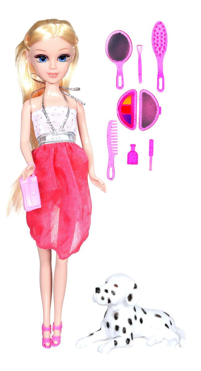 Карапуз Кукла Мария с собачкой цвет платья красный белый6530-RU_блондинка с долматинцемКукла Карапуз Мария с собачкой приведет в восторг любую девочку. Мария обожает ухаживать за своим питомцем и играть с ним. В наборе есть все необходимое для ухода за питомцем. Когда Мария отправляется на прогулку со своей собачкой, она сразу приковывает к себе взгляды. Мария одета в стильное платье, обута в розовые босоножки, а также имеет в комплекте несколько модных аксессуаров. Две яркие отличительные особенности этой куклы - шикарные волосы и огромные глаза. Красивые волосы можно причесывать и делать кукле различные прически. Одежду с Марии можно снять, ножки, руки и голова куклы подвижны. Выполнена кукла из прочного высококачественного пластика. Игры с куклой развивают фантазию и память.