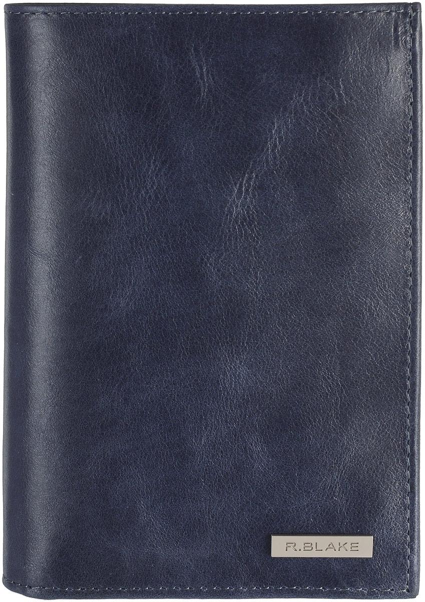 Портмоне мужское R.Blake Harold Shammy, цвет: темно-синий. GHRL00-000000-D0608O-K101GHRL00-000000-D0608O-K101Стильное мужское портмоне R.Blake Harold Shammy изготовлено из натуральной кожи. Портмоне раскладывается пополам. Внутри находятся одно отделение для купюр, потайной карман, семь кармашков для пластиковых карт, боковой карман и сквозной карман с прозрачными пластиковыми окошечками, боковой карман, карман на застежке-молнии для мелочи и маленький кармашек для сим-карты. Портмоне упаковано в фирменную коробку. Такое портмоне станет замечательным подарком человеку, ценящему качественные и практичные вещи.