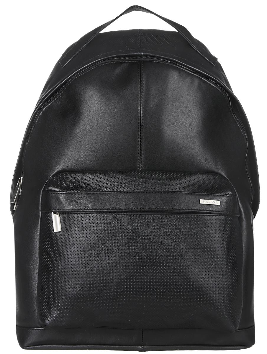 Рюкзак мужской R.Blake Hank Sport, цвет: черный. GHNK00-00ML13-C1401O-K100GHNK00-00ML13-C1401O-K100Стильный мужской рюкзак R.Blake Hank Sport, выполненный из натуральной кожи и текстиля, оформлен легкой перфорацией. Изделие имеет одно основное отделение, которое закрывается на застежку-молнию. Внутри изделия расположены прорезной карман на застежке-молнии и накладной открытый карман. Снаружи, на передней стенке находится объемный накладной карман на застежке-молнии. Рюкзак оснащен широкими лямками регулируемой длины и ручкой для переноски в руке.
