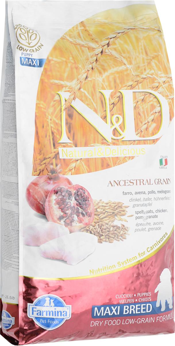 Корм сухой Farmina N&D для щенков крупных пород, беременных и кормящих собак, низкозерновой, с курицей и гранатом, 12 кг21960Сухой корм Farmina N&D является низкозерновым и сбалансированным питанием для щенков крупных пород, беременных и кормящих собак. Изделие имеет высокое содержание витаминов и питательных веществ. Сухой корм содержит натуральные компоненты, которые необходимы для полноценного и здорового питания домашних животных. Товар сертифицирован.
